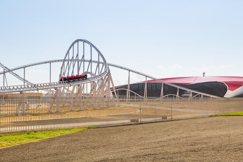 Download Roller Coaster At Ferrari World In Abu Dhabi Editorial Stock Photo - Image of future, east: 40147283