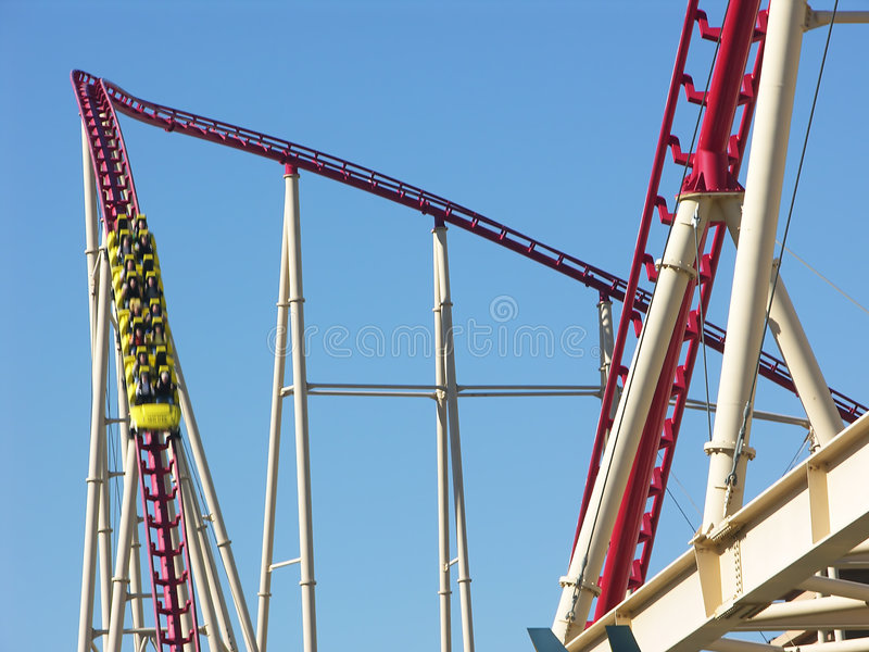 Roller Coaster - Going Down stock image