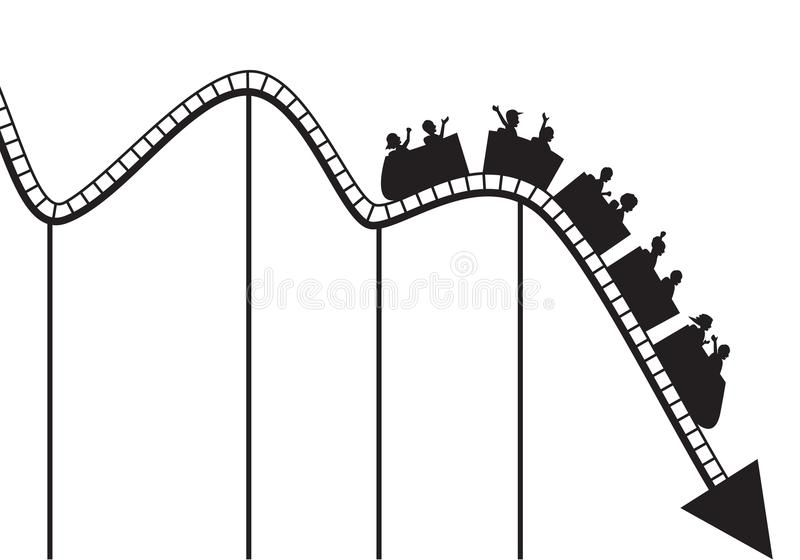 Download Roller coaster graph stock vector. Image of abstract - 21832899