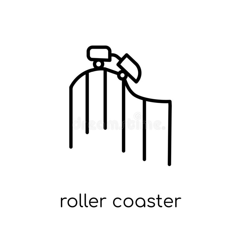 Roller coaster icon from Entertainment collection. royalty free illustration
