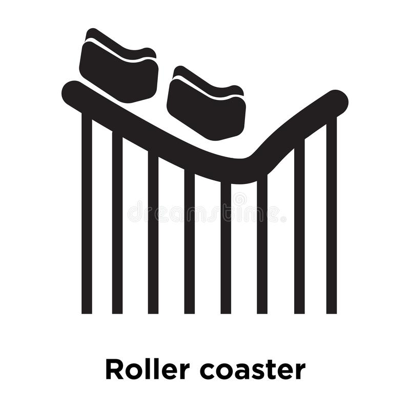 Roller coaster icon vector isolated on white background, logo co stock illustration