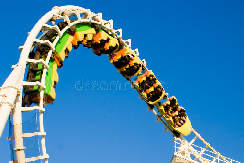 Roller coaster (invertido) foto de stock royalty free