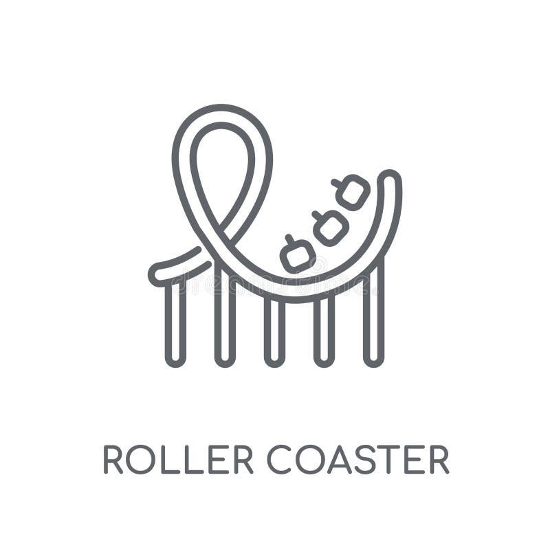 Roller coaster linear icon. Modern outline Roller coaster logo c stock illustration
