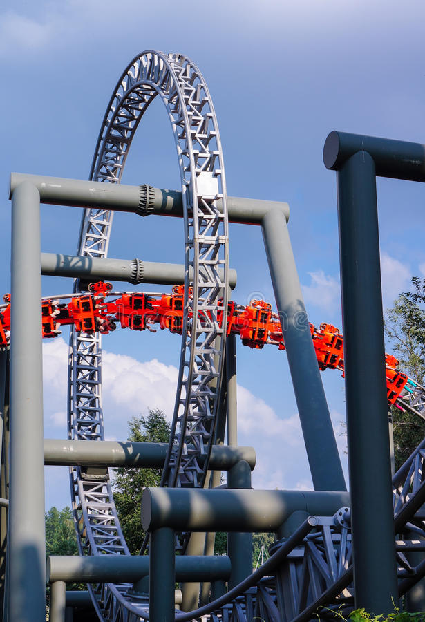 Roller Coaster Loop Stock Photography