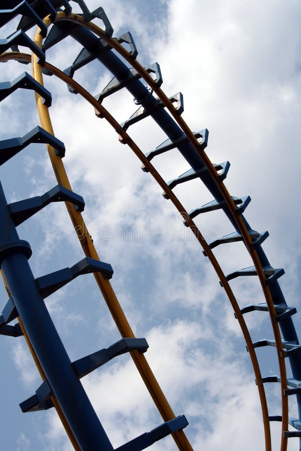 Roller Coaster Loop royalty free stock photos