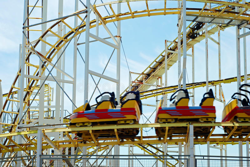 Download Roller Coaster With Motion Blur Stock Image - Image: 20126655