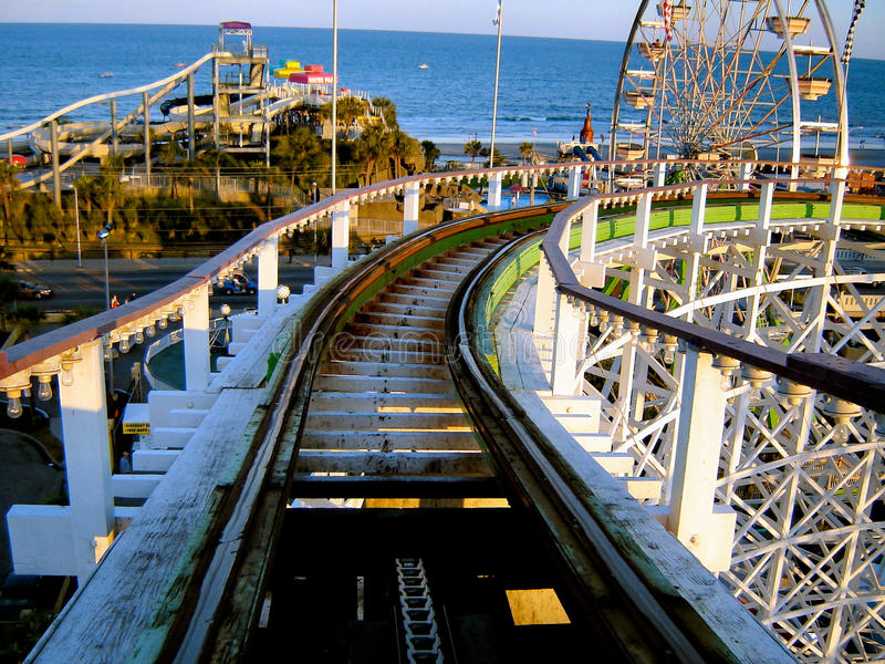 Download Roller Coaster In Myrtle Beach Stock Image - Image: 26675097