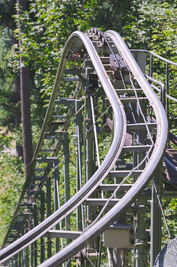 Roller Coaster Rails royalty free stock photos
