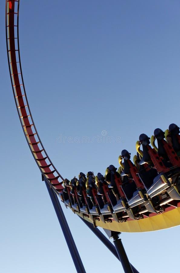 Roller coaster ride royalty free stock photos