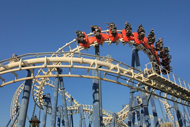 Roller coaster ride. stock photography