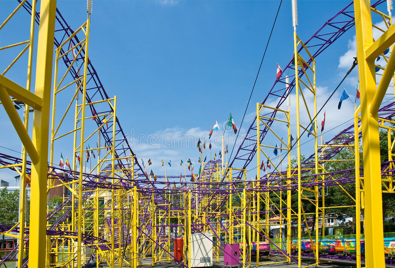 Roller coaster ride stock images