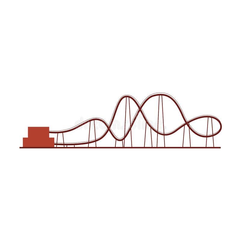 Roller coaster, rollercoaster ride in amusement park royalty free illustration