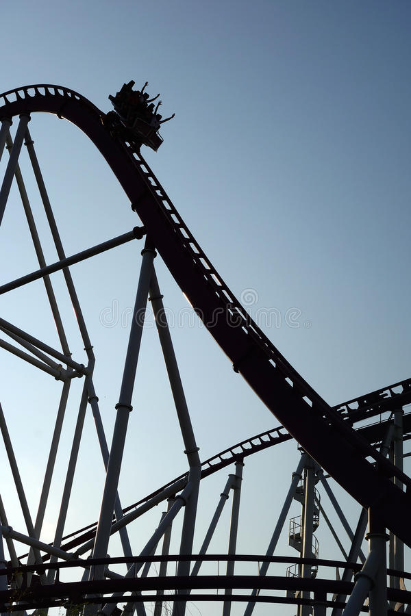 Roller Coaster Silhouette royalty free stock photography