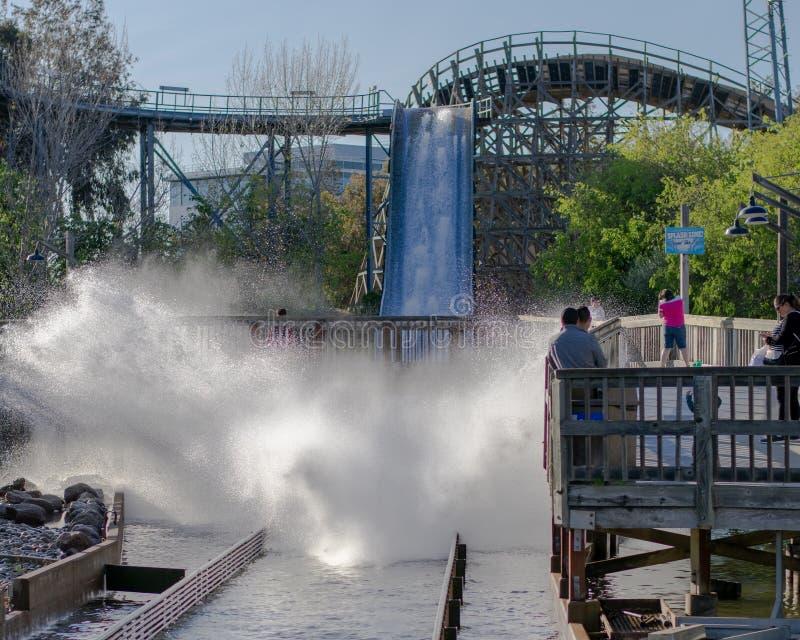 Roller coaster Splash stock photos