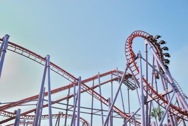 Roller coaster in Tailandia fotografie stock libere da diritti