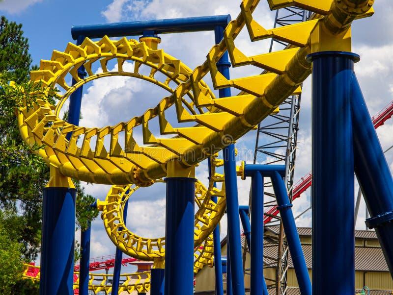 Roller Coaster stock photos