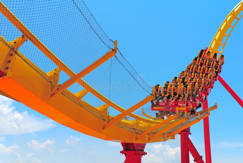 Download Roller Coaster Thrill Ride Editorial Photography - Image: 26512402