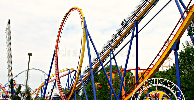 Roller coasters stock images