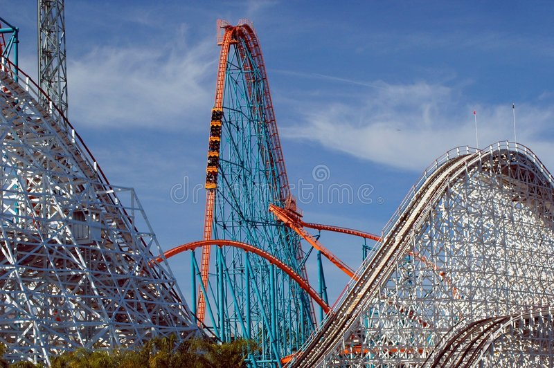 Roller Coasters royalty free stock photos