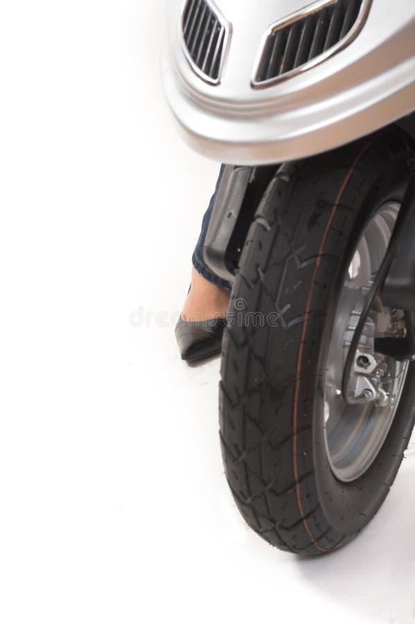 Roller des vorderen Rades stockbild