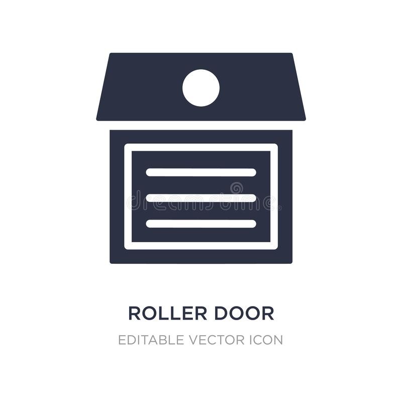 roller door icon on white background. Simple element illustration from Buildings concept royalty free illustration