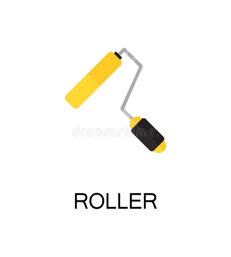 Roller flat icon. stock illustration
