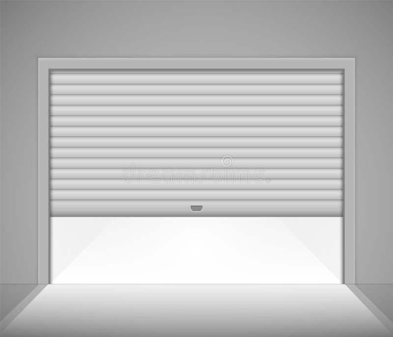 Roller Garage Door Stock Vector Illustration Of Dark 118476651