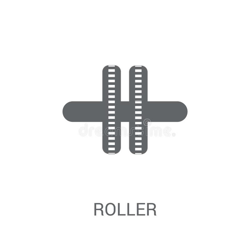Roller icon. Trendy Roller logo concept on white background from stock illustration
