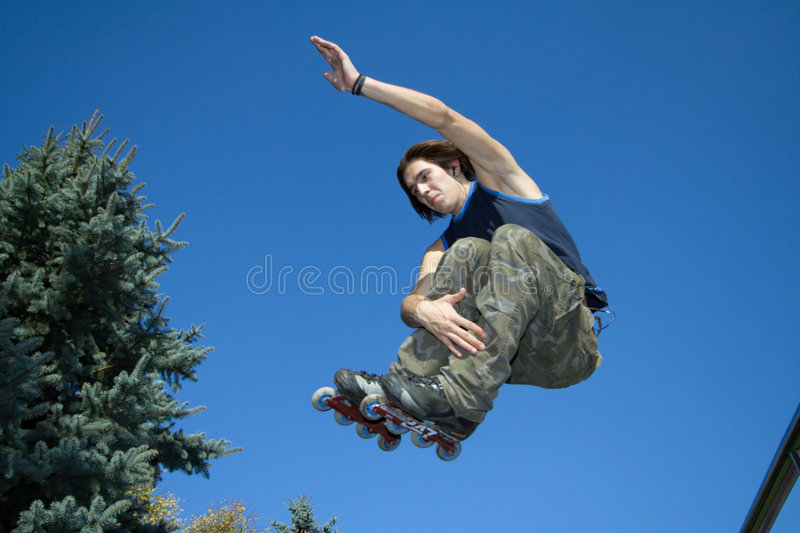 Roller jumping stock photography