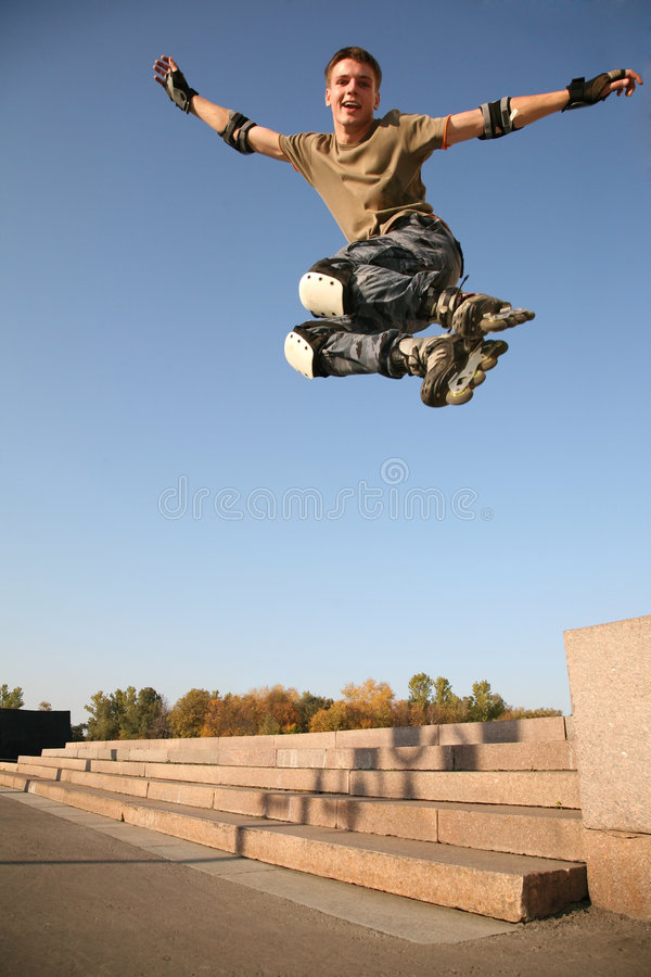 Roller jumps 4 royalty free stock photos
