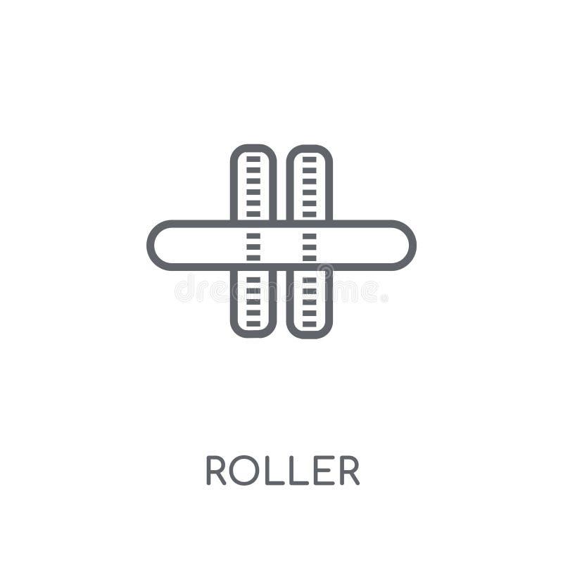 Roller linear icon. Modern outline Roller logo concept on white royalty free illustration