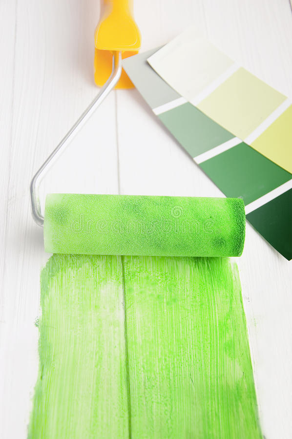 Download Roller paint stock image. Image of colors, green, decisions - 23580693