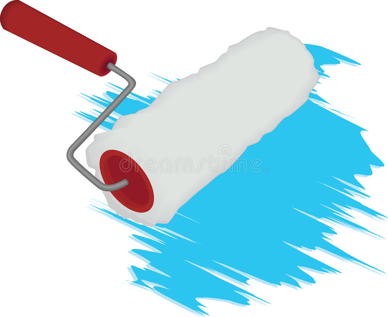 Roller for painting stock image