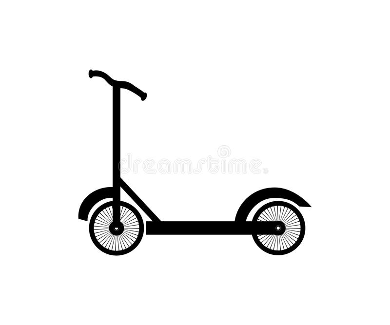 Roller scoote, eco alternative city transport. Flat design biking and rolling wheels. Vector kick scooter. Isolated on white. vector illustration