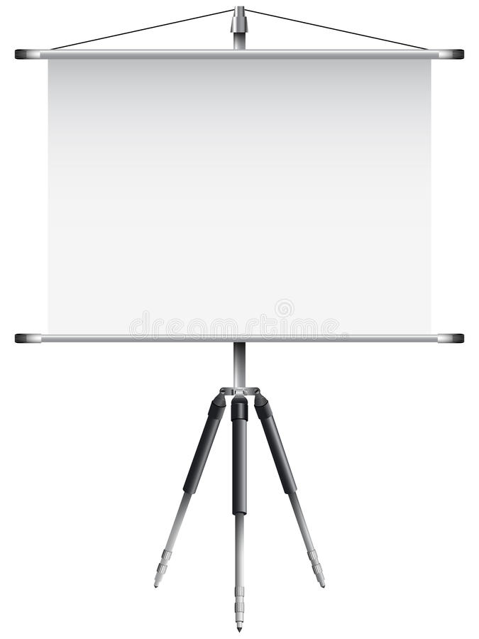 Download Roller screen with tripod stock vector. Image of information - 23350619