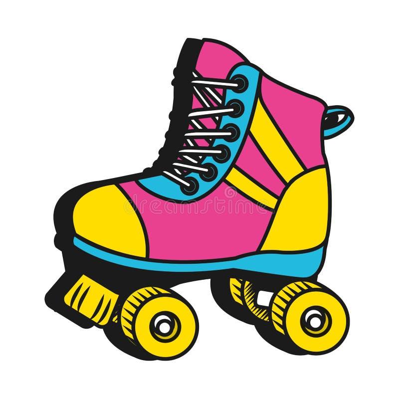 Free Roller Skate Cartoon Royalty Free Stock Photos - 142728958