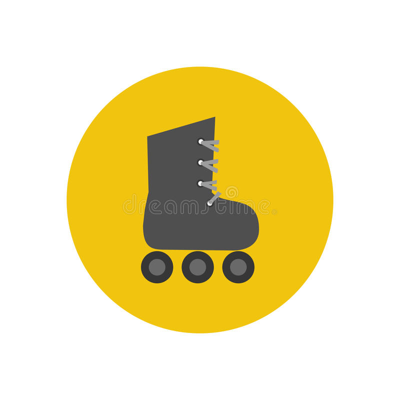 Roller skate icon. On a yellow background. Vector illustration vector illustration