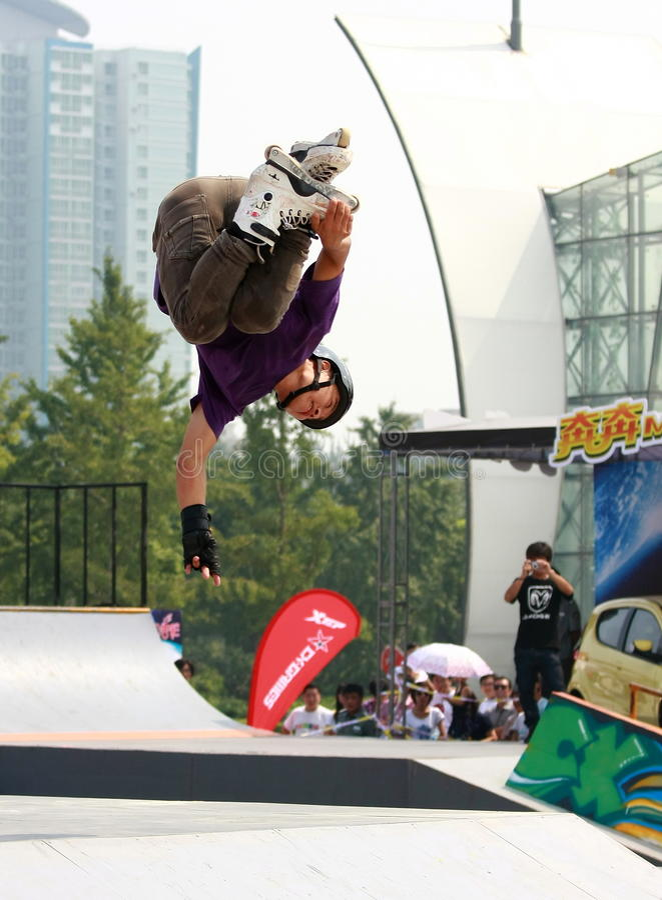 Roller skater stock image