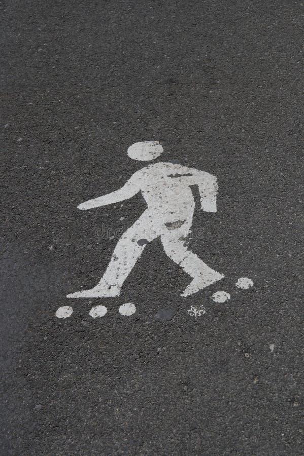 Roller skater sign royalty free stock image
