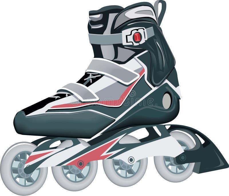 Roller Skates. Modern Roller Skates nice illustration royalty free illustration