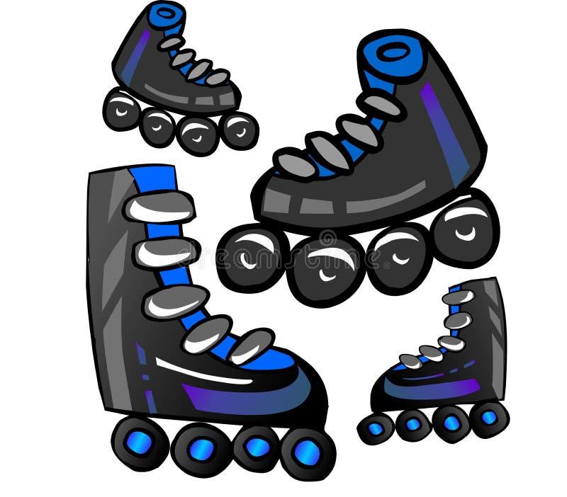 Roller Skates. A picture of roller Skates stock illustration