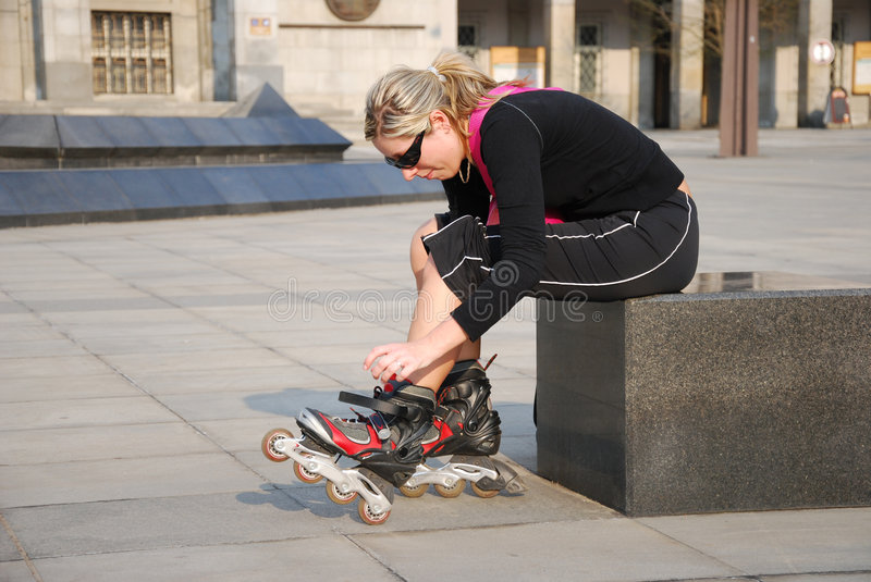 Roller skates royalty free stock images