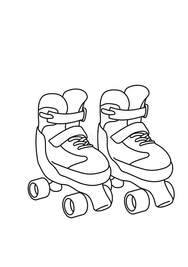 Roller Skate Coloring Page | Roller, Roller derby art, Kids roller ... | 900x636