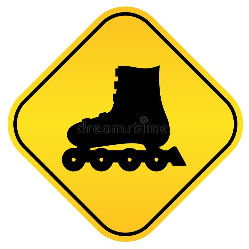 Roller skates sign vector illustration