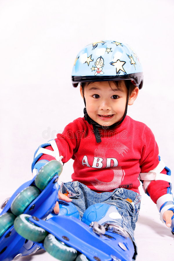 Download Roller Skating Boy Making Faces Stock Photo - Image: 8920382