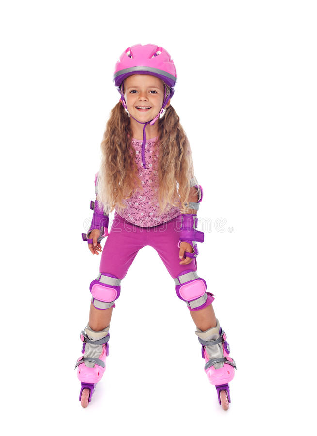 Free Roller Skating Little Girl Laughing - Isolated Royalty Free Stock Photography - 20999897