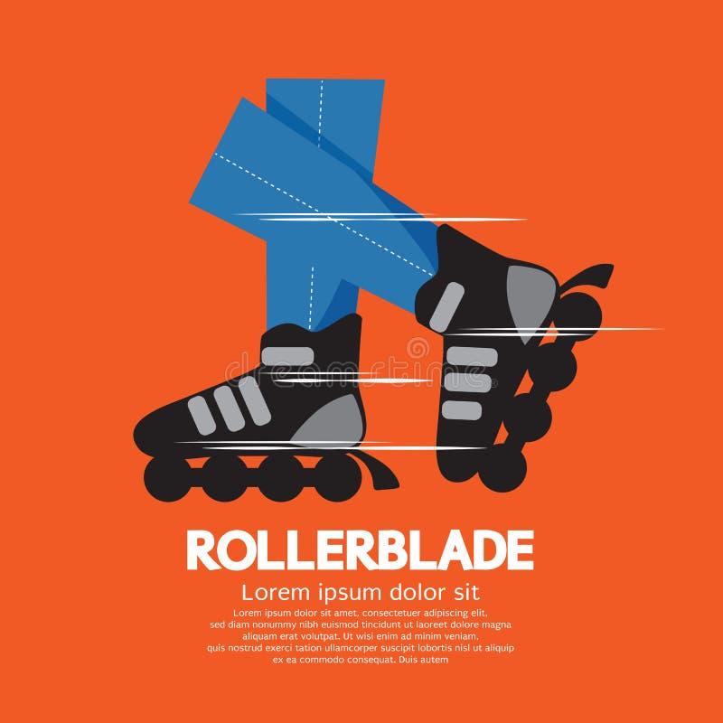 Rollerblade eller rullskridskor stock illustrationer