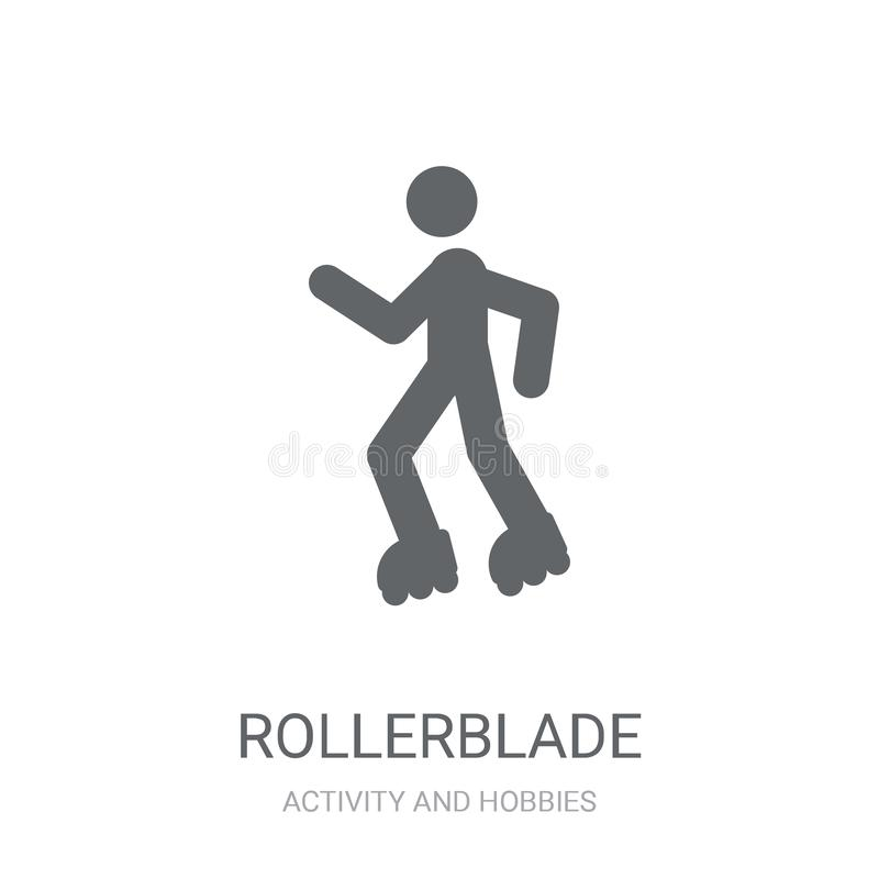 Rollerblade icon. Trendy Rollerblade logo concept on white background from Activity and Hobbies collection stock illustration