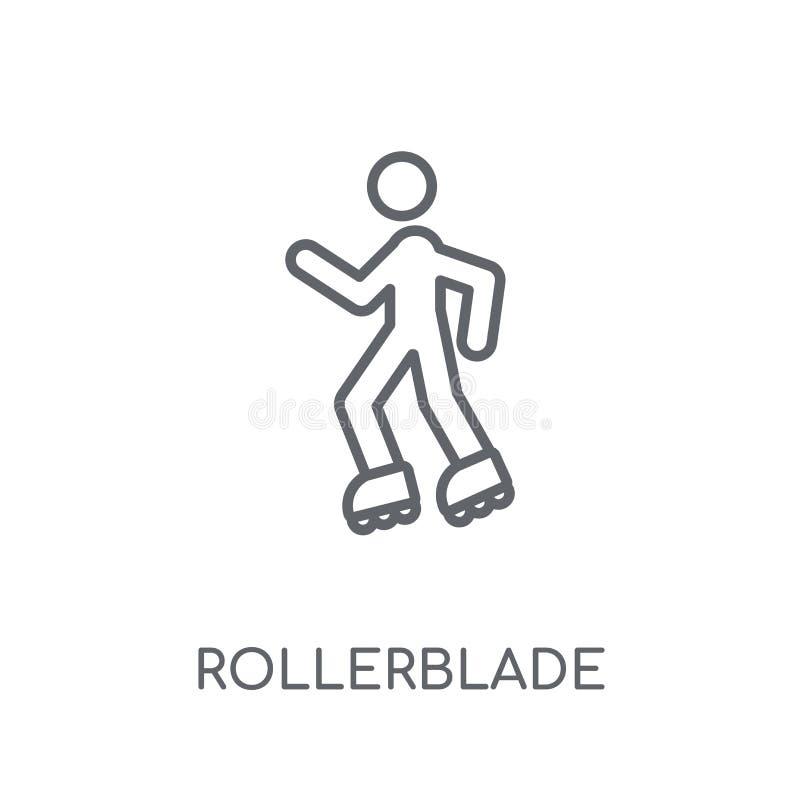 Rollerblade lineair pictogram Modern het embleemconcept van overzichtsrollerblade vector illustratie