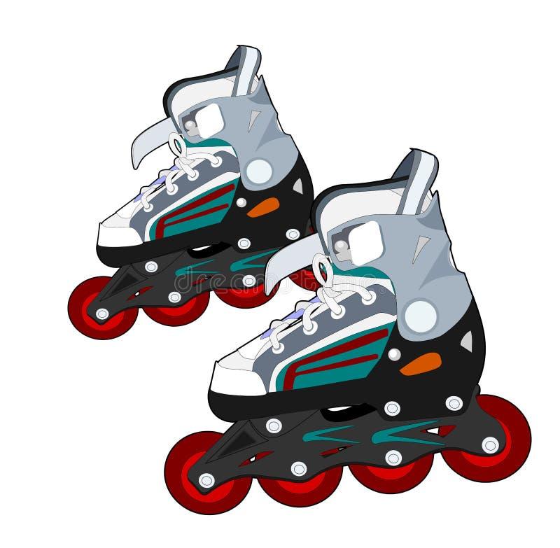 Rollerblades illustrazione vettoriale